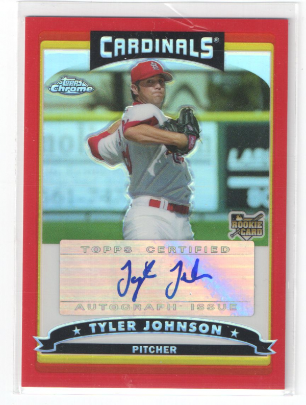 2006 Topps Chrome Red Refractors #344 Tyler Johnson AU