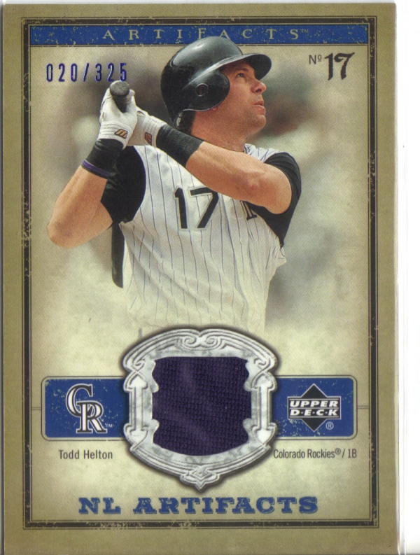2006 Artifacts AL/NL Artifacts Blue #THN Todd Helton Jsy/325