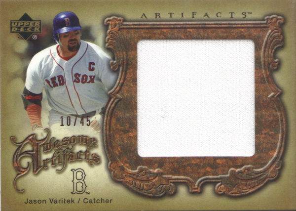 2006 Artifacts Awesome Artifacts Jumbos #JV Jason Varitek Jsy/45