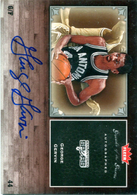 2005-06 Greats of the Game Autographs #GGGG George Gervin/250* front image