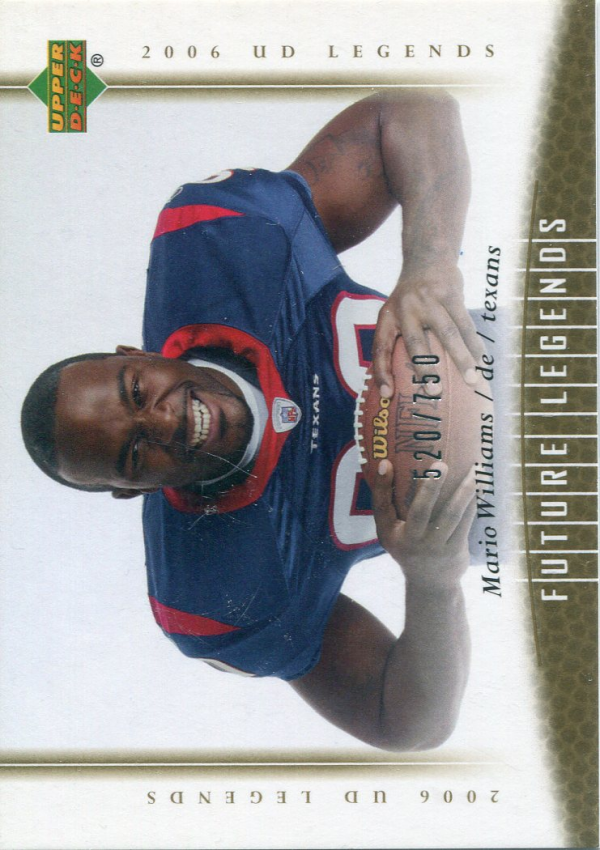 2006 Upper Deck Legends #168 Mario Williams RC