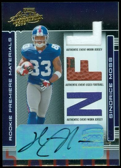 2006 Absolute Memorabilia Rookie Premiere Materials Autographs #272 Sinorice Moss