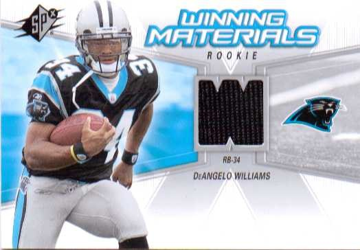 2006 SPx Rookie Winning Materials #WMRDW DeAngelo Williams