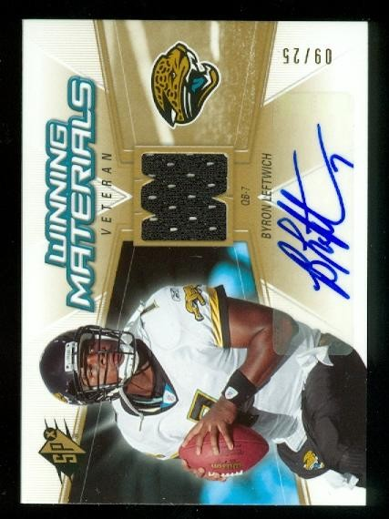 2006 SPx Winning Materials Autographs #WMVBL Byron Leftwich