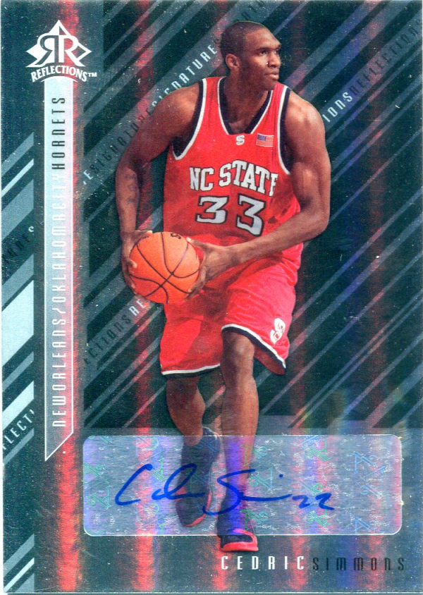2006-07 Reflections Signature Silver #CS Cedric Simmons