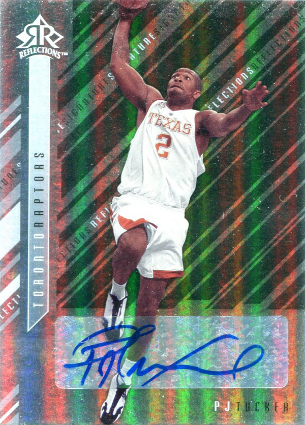 2006-07 Reflections Signature Silver #PT P.J. Tucker