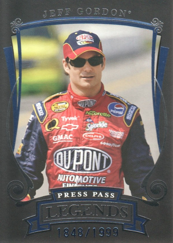 2006 Press Pass Legends Blue #B35 Jeff Gordon