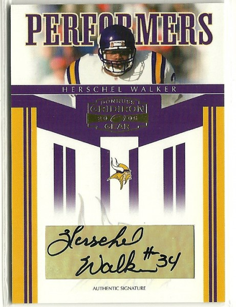 2006 Donruss Gridiron Gear Performers Autographs #14 Herschel Walker/35