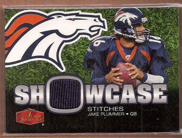 2006 Flair Showcase Showcase Stitches Jersey #SHSJP Jake Plummer
