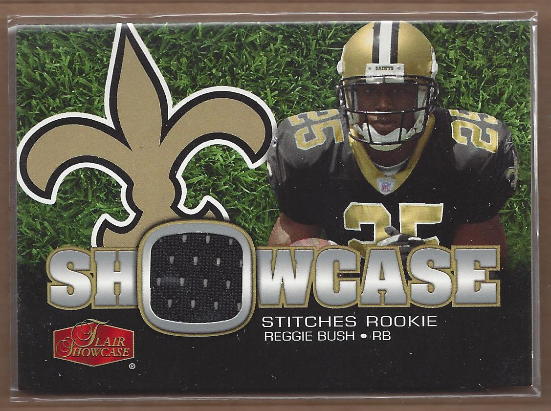 2006 Flair Showcase Showcase Stitches Jersey #SHSBU Reggie Bush