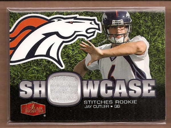 2006 Flair Showcase Showcase Stitches Jersey #SHSJC Jay Cutler