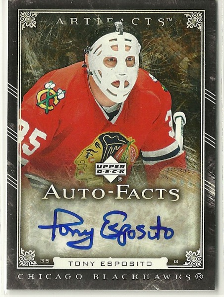 2006-07 Artifacts Autofacts #AFTE Tony Esposito SP