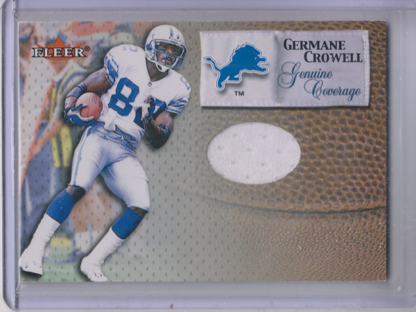 2000 Fleer Tradition Genuine Coverage #12 Germane Crowell