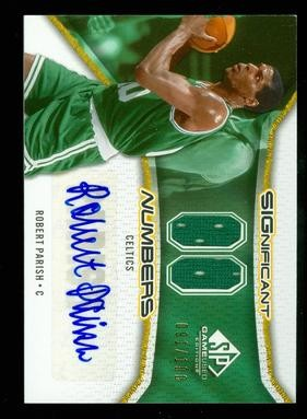 2006-07 SP Game Used Significant Numbers #RP Robert Parish/100