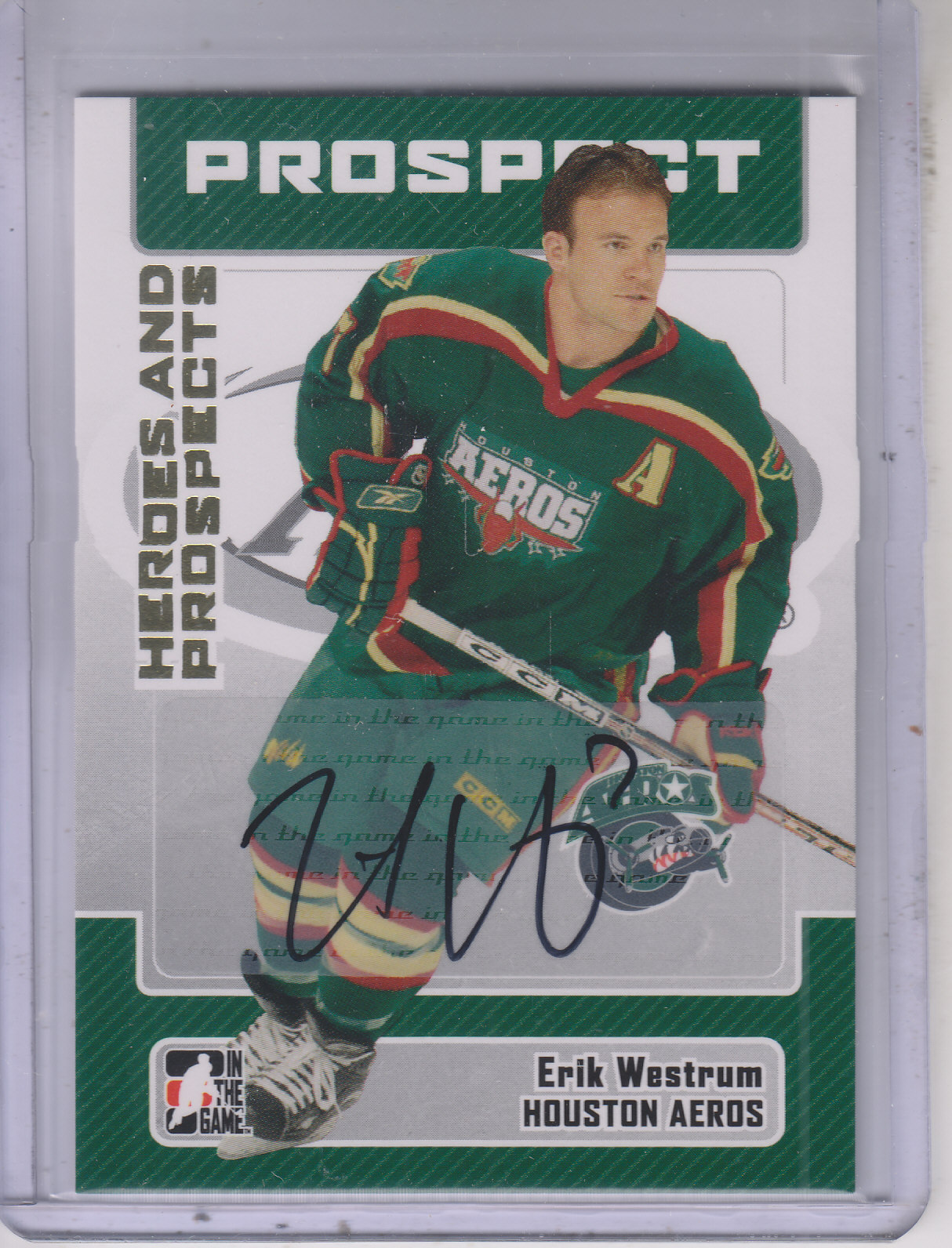 2006-07 ITG Heroes and Prospects Autographs #AEW Erik Westrum