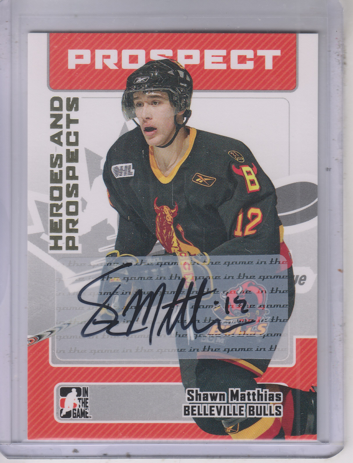 2006-07 ITG Heroes and Prospects Autographs #ASM Shawn Matthais