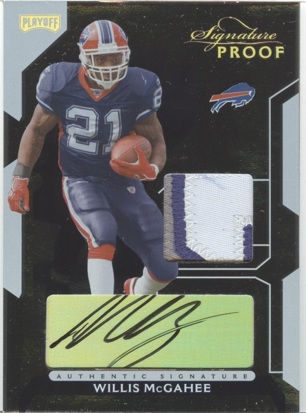2006 Playoff NFL Playoffs Jersey Signature Proofs Gold #67 Willis McGahee/21