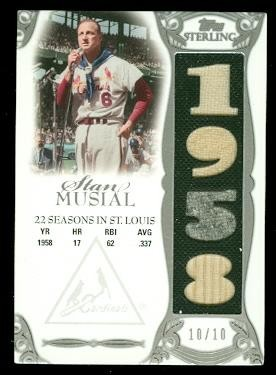 2006 Topps Sterling Moments Relics #SMSTL17 Stan Musial 1958