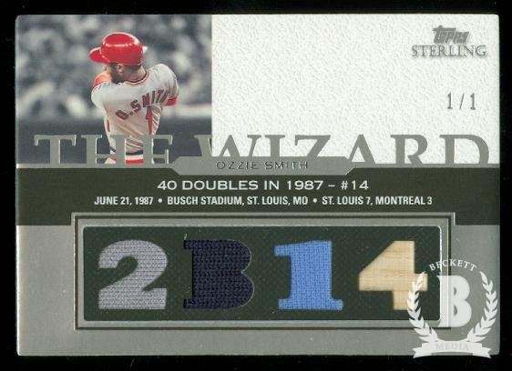 2006 Topps Sterling Moments Relics Prime #OSDB14 Ozzie Smith 2B 14
