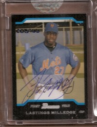 2006 Bowman Originals Buyback Autographs #558 Lastings Milledge 05 BCDP/166 F front image