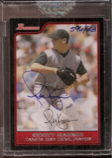 2006 Bowman Originals Buyback Autographs #738 Scott Kazmir 06 B/661 F