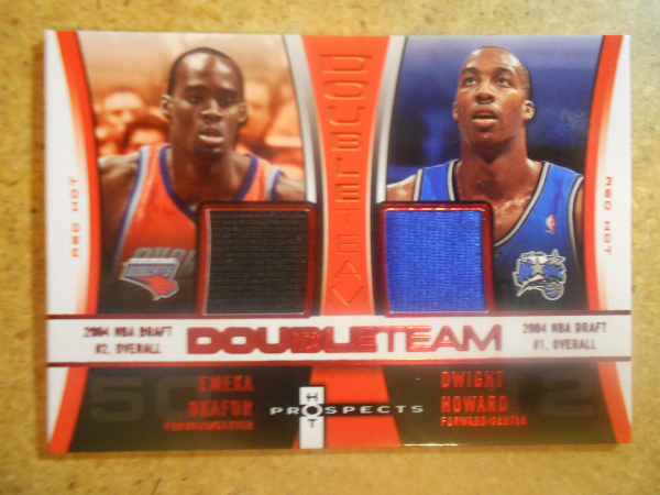 2006-07 Fleer Hot Prospects Double Team Memorabilia Red Hot #OH Emeka Okafor/Dwight Howard