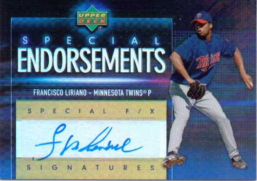 2006 Upper Deck Special F/X Special Endorsements #FL Francisco Liriano
