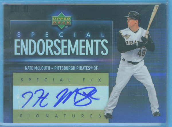 2006 Upper Deck Special F/X Special Endorsements #NM Nate McLouth
