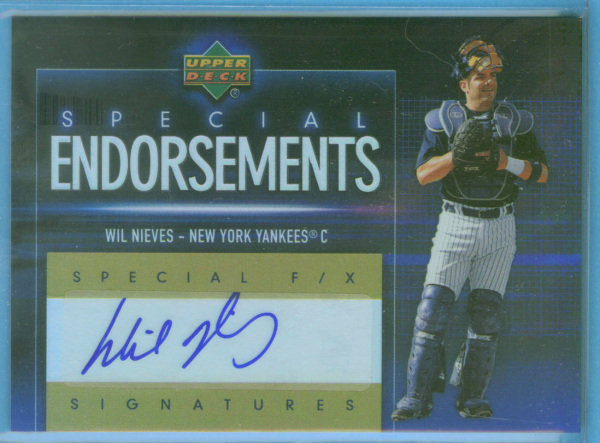 2006 Upper Deck Special F/X Special Endorsements #WN Wil Nieves