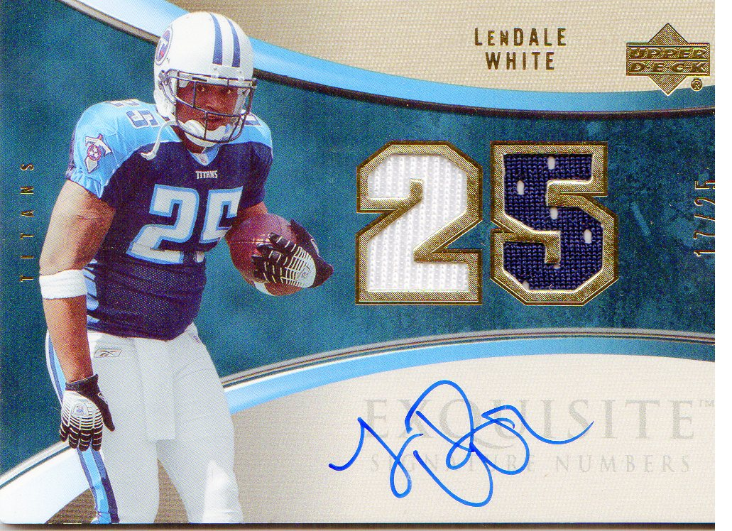 2006 Exquisite Collection Signature Numbers #ESNLW LenDale White/25