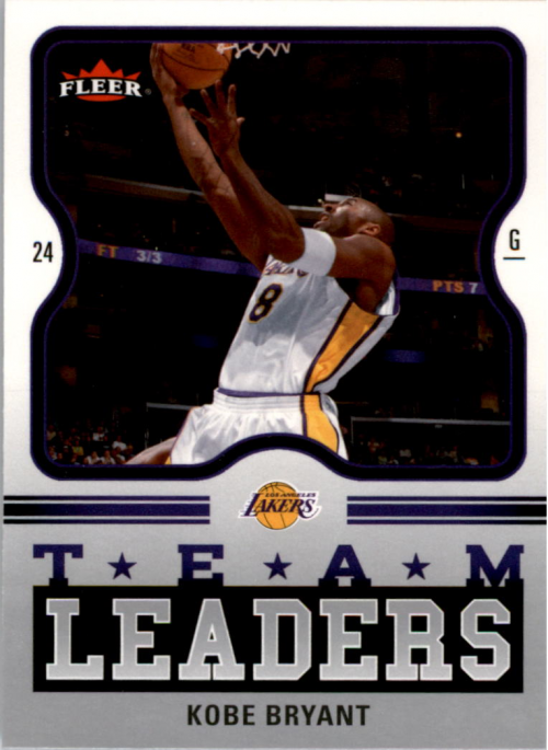 2006-07 Fleer Team Leaders #KB Kobe Bryant