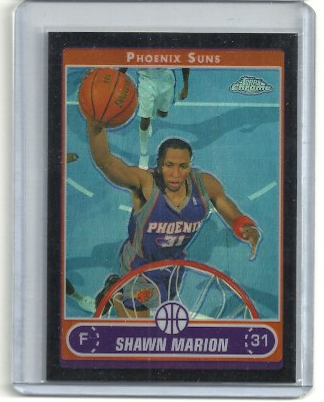 2006-07 Topps Chrome Refractors Black #24 Shawn Marion