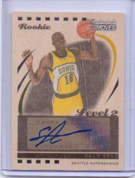 2006-07 Topps Trademark Moves Wood #149 Saer Sene AU/19