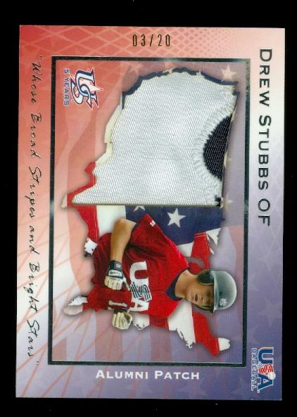 2006-07 USA Baseball Alumni Patriotic Patches #2 Drew Stubbs