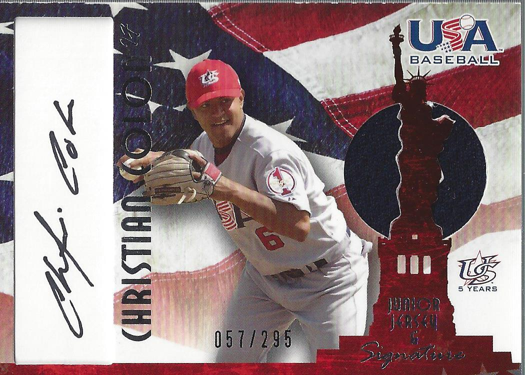 2006-07 USA Baseball Signatures Jersey Black #33 Christian Colon