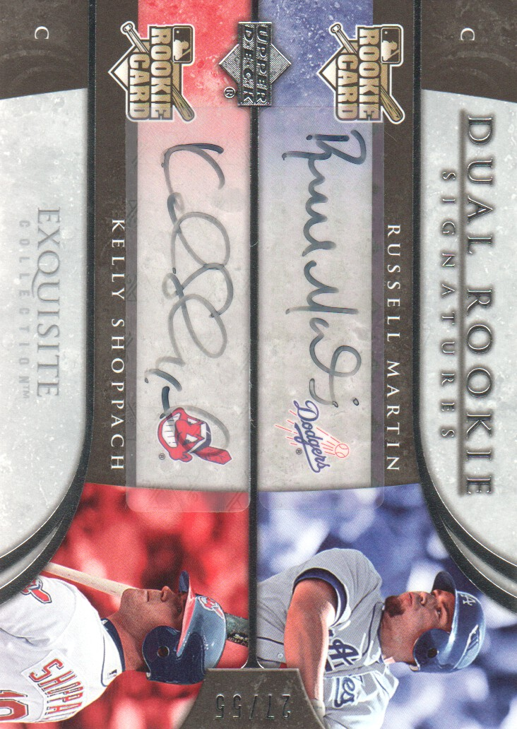 2006 Exquisite Collection #84 Shoppach (RC)/Martin (RC)
