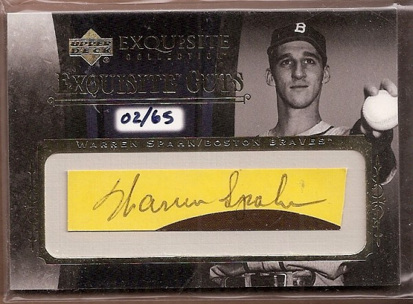 2006 Exquisite Collection Cuts #WS Warren Spahn/65