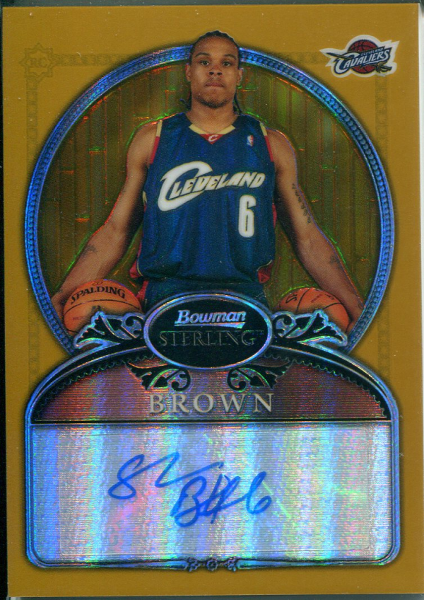 2006-07 Bowman Sterling Refractors Gold #78 Shannon Brown AU/349