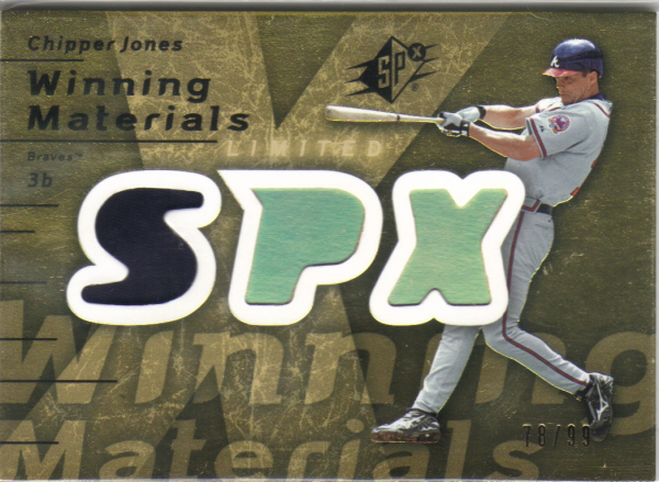 2007 SPx Winning Materials 99 Gold #CJ Chipper Jones/99