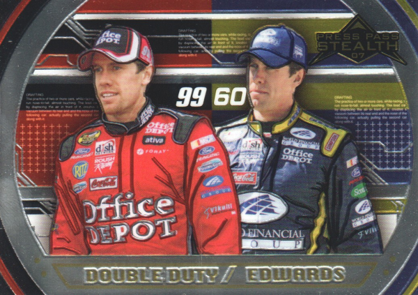 2007 Press Pass Stealth Chrome #79 Carl Edwards DD