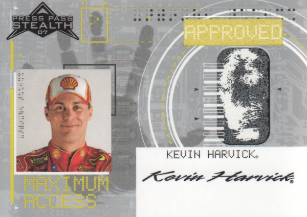 2007 Press Pass Stealth Maximum Access #MA11 Kevin Harvick