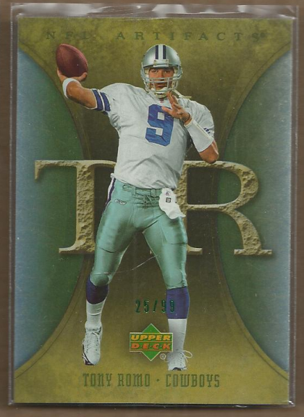 2007 Artifacts Green #27 Tony Romo