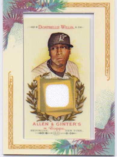 2007 Topps Allen and Ginter Relics #DW Dontrelle Willis J