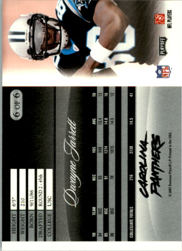 2007 Donruss Pepsi National Convention #6 Dwayne Jarrett back image