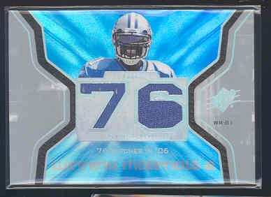 2007 SPx Winning Materials Stat #WMSCJ1 Calvin Johnson