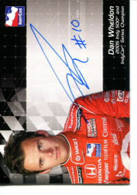 2007 Rittenhouse IRL Autographs #17 Dan Wheldon front image