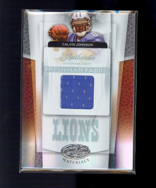2007 Leaf Certified Materials #234 Calvin Johnson JSY/849 RC