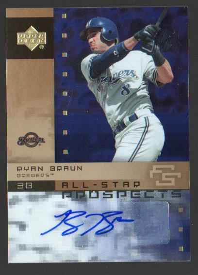 2007 Upper Deck Future Stars All Star Futures Signatures #RB Ryan Braun