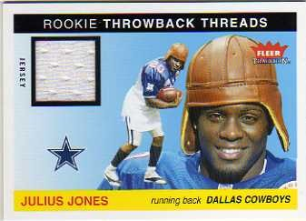 2004 Fleer Tradition Rookie Throwback Threads Jerseys #TTJJ Julius Jones