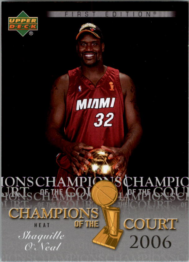deck first edition champions of the court #ccso shaquille o'neal